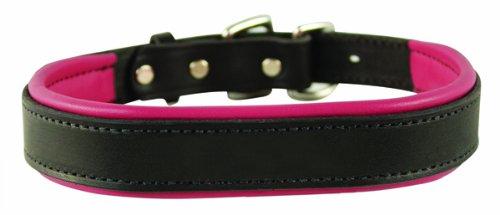 collar de perros color negro con rosado