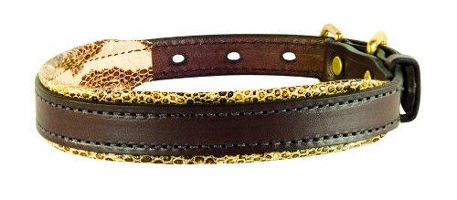 collar con diseño de cuero de serpiente